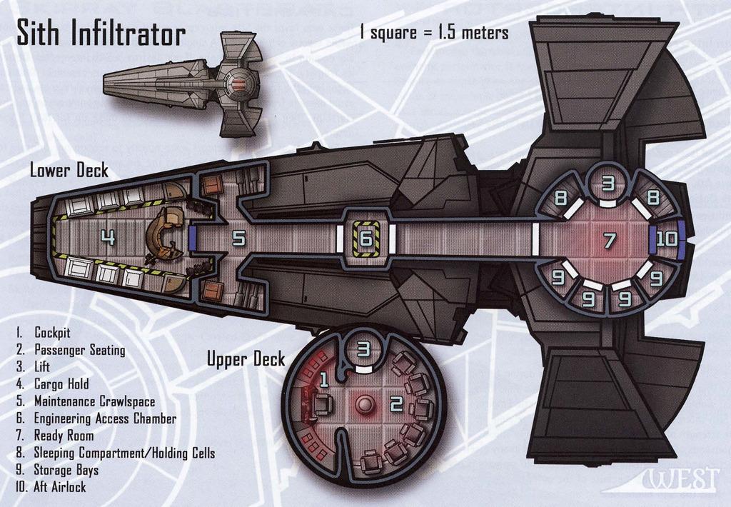 Sith Infiltrator Floor Plan